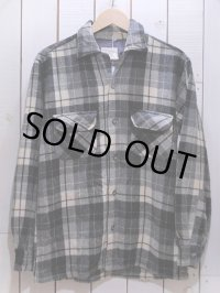 1960s【TOWNCRAFT】ウールシャツ 黒チェック 表記S