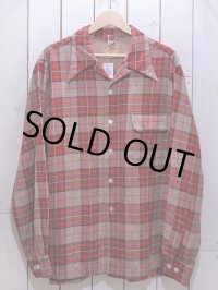 1940s【McGREGOR】ウールギャバジンシャツ 表記L(実寸XL)