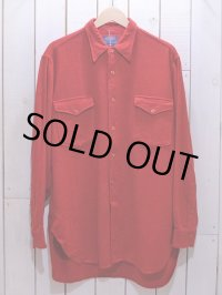 1960s【PENDLETON】ウールシャツ 表記16 1/2