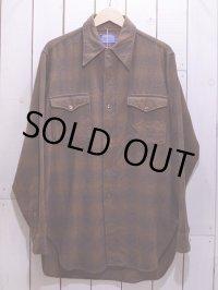1970s【PENDLETON】ウールシャツ オンブレ 表記15 1/2