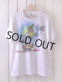 1990s エアブラシペイントTシャツ  表記L