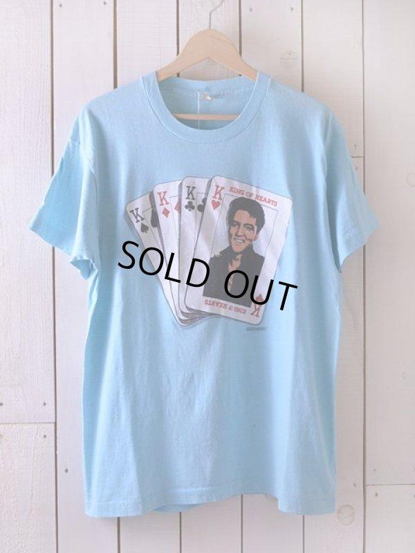 画像1: 1980s KING OF HEARTS ELVIS Tシャツ  表記XL