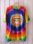 画像1: 1990s ゴキゲンな太陽タイダイTシャツ <br>表記XL<br> (1)