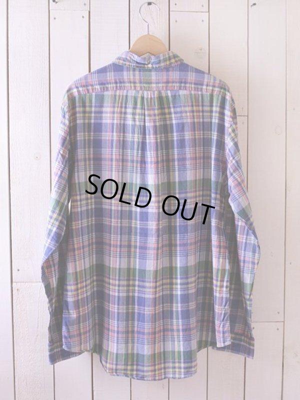 画像2: RalphLauren チェックBDシャツ  表記XL