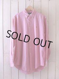 RalphLauren ピンクシャンブレーBDシャツ  表記M