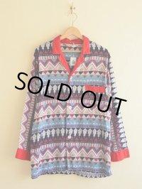 1960s BRENT 総柄パジャマシャツ  表記M