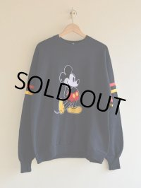 1980s Mickey Mouse フロッキースウェット  表記XXL