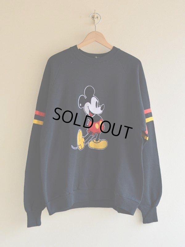 画像1: 1980s Mickey Mouse フロッキースウェット  表記XXL