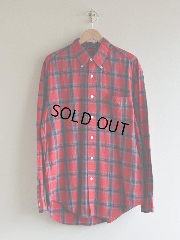 画像1: NAUTICA チェックBDシャツ  表記L