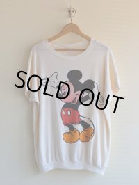 1970s-80s Mickey Mouse Tシャツ  表記ONE SIZE FITS ALL