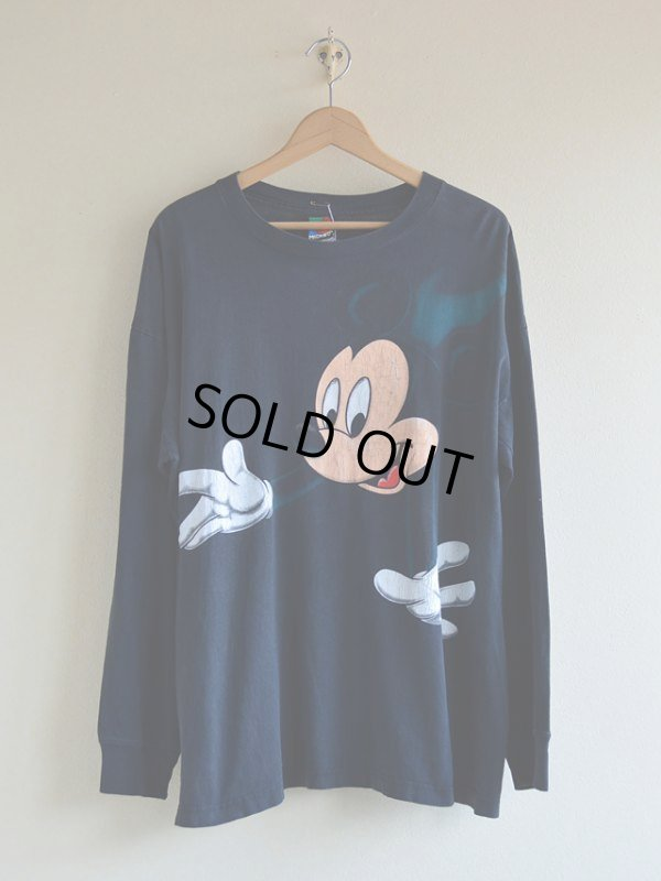 画像1: 1990s Mickey Mouse L/S Tシャツ  表記L
