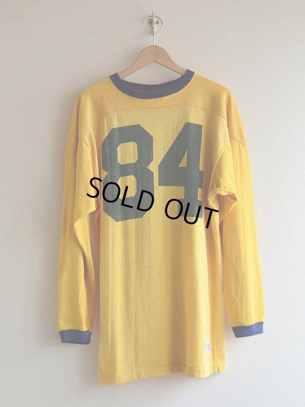 画像1: 1960s Champion ナンバリングフットボールTシャツ  表記46