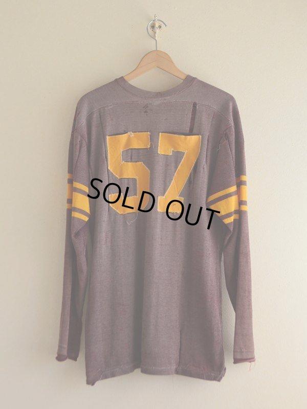 画像2: 1950s〜ナンバリングフットボールTシャツ  実寸L