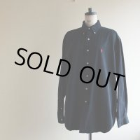 RalphLauren ブラックBDシャツ  表記L