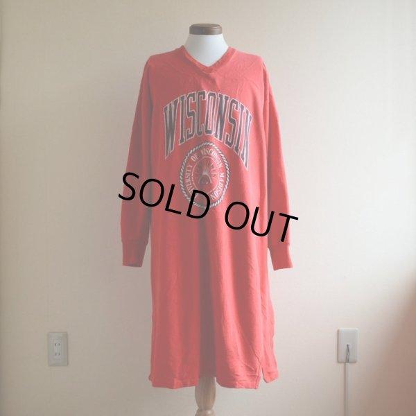 画像1: 1980s-90s WISCONSIN スウェットナイトシャツ  表記L/XL