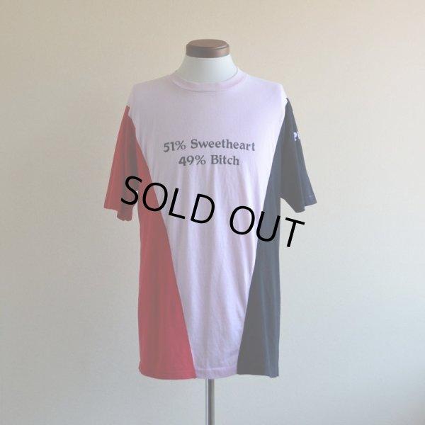 画像1: 1980s 51% Sweetheart 49% Bitch Tシャツ  表記XL