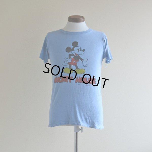 画像1: 1970s MICKEY MOUSE 両面プリントTシャツ  表記S