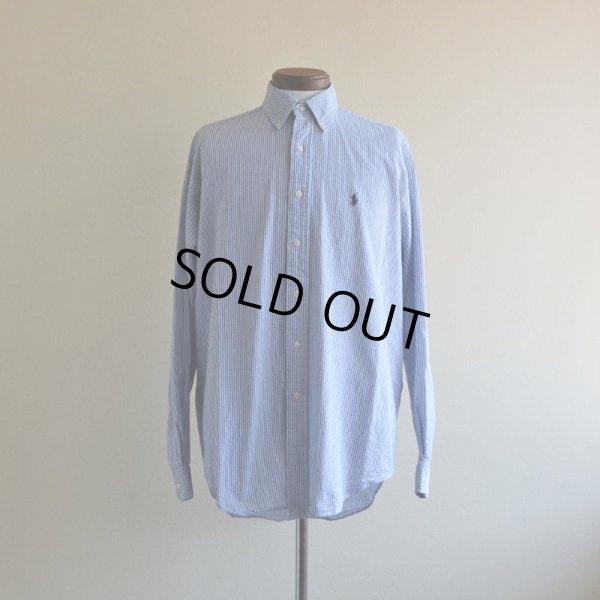 画像1: RalphLauren シアサッカーBDシャツ  表記M