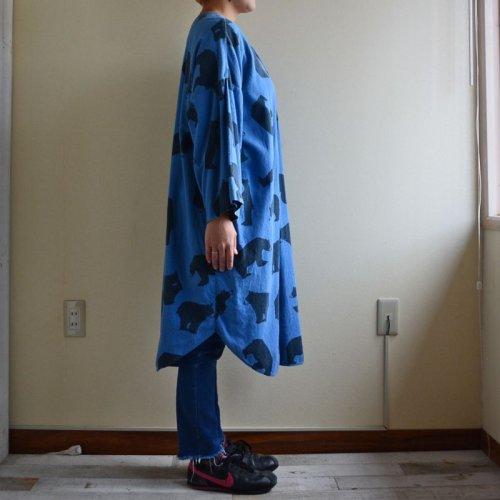 詳細画像2: 1990s MICHIGAN RAG クマ総柄フランネルプルオーバーシャツ  表記L/XL