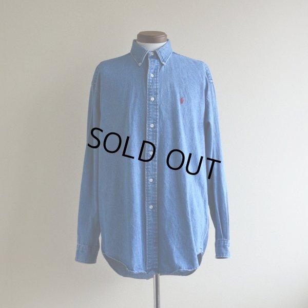 画像1: RalphLauren デニムBDシャツ  表記M