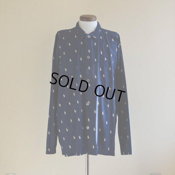 画像1: POLO RalphLauren ポニー総柄パジャマシャツ  表記XL