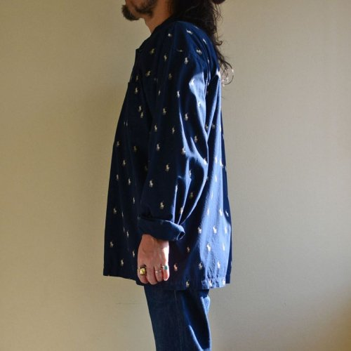 詳細画像2: POLO RalphLauren ポニー総柄パジャマシャツ  表記XL