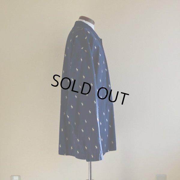 画像2: POLO RalphLauren ポニー総柄パジャマシャツ  表記XL