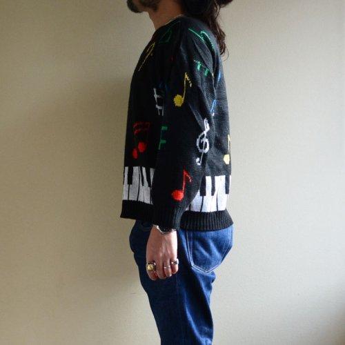 詳細画像2: 1980s 鍵盤ジャガードセーター  実寸M