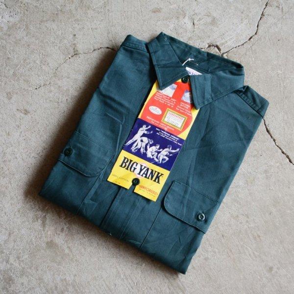"""画像1: 1960s BIG YANK マチ付きワークシャツ  """"100% COTTON""""  DEAD STOCK  表記15 S"""