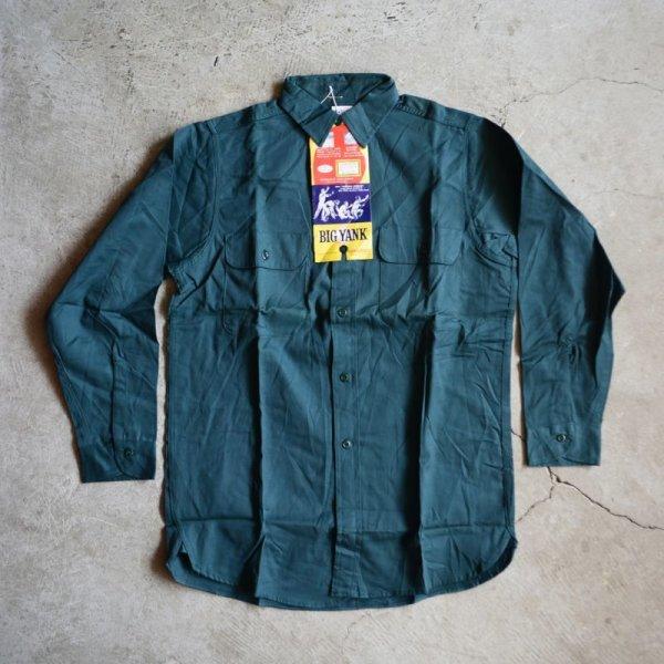 """画像2: 1960s BIG YANK マチ付きワークシャツ  """"100% COTTON""""  DEAD STOCK  表記15 S"""