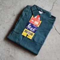 """1960s BIG YANK マチ付きワークシャツ  """"100% COTTON""""  DEAD STOCK  表記15 S"""