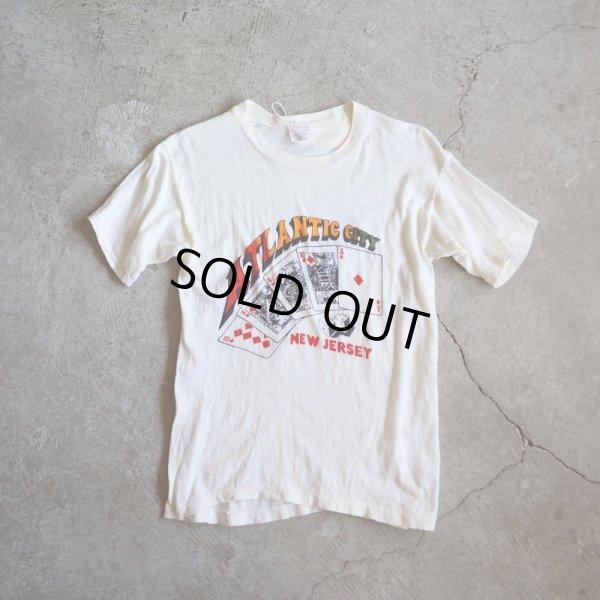 画像1: 1980s ATLANTIC CITY パキ綿Tシャツ  表記M