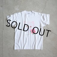 1990s 猫と薔薇Tシャツ  実寸L