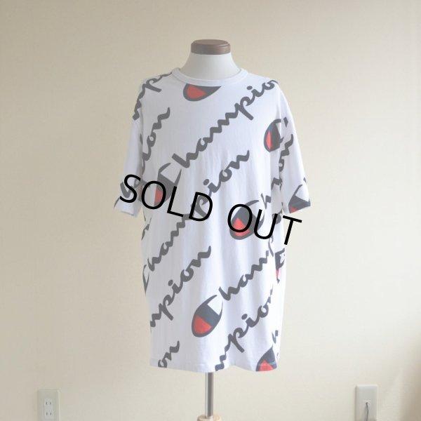 画像1: Champion 総柄Tシャツ  表記XL