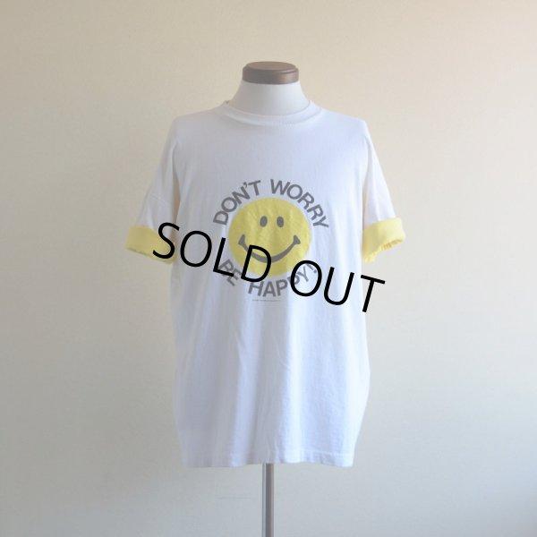 画像1: 1980s DON'T WORRY BE HAPPY スマイルTシャツ  HEARTLAND APPAREL  表記XL