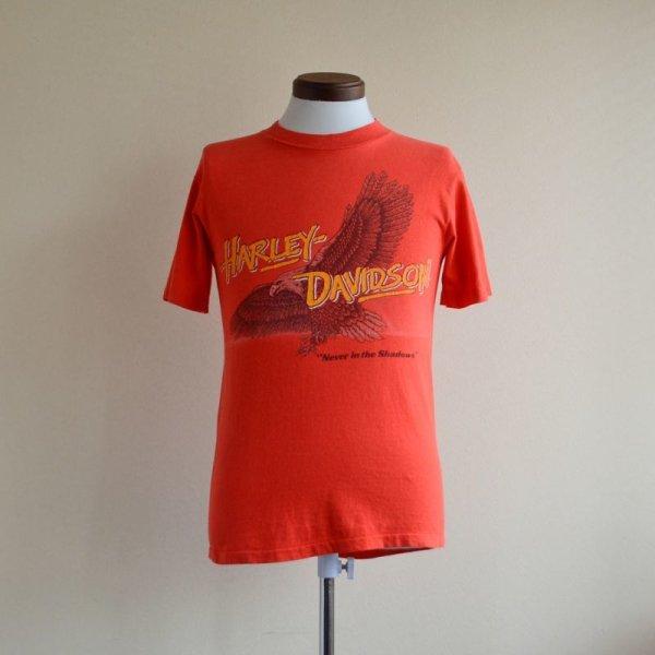 """画像1: 1980s Harley-Davidson """"Never in the shadows"""" Tシャツ  表記S"""