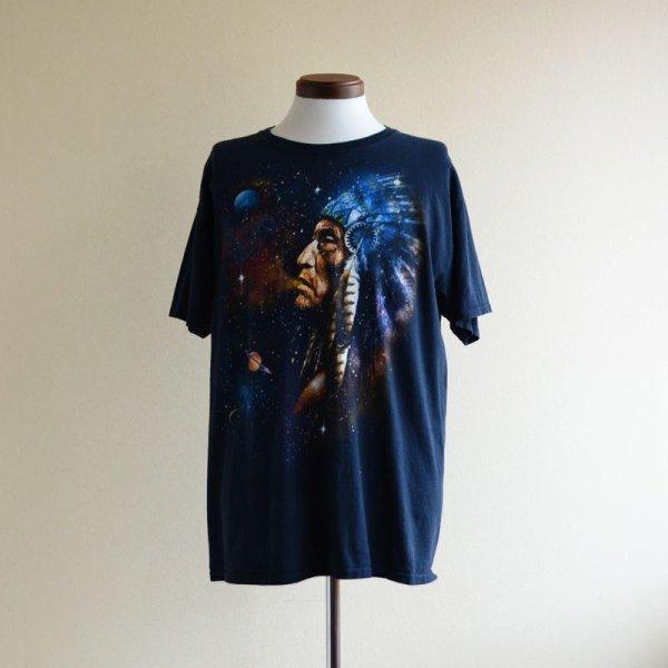 画像1: インディアンと宇宙Tシャツ  表記L