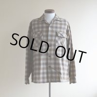 1950s PENDLETON ウールシャツ  オンブレーチェック  表記M