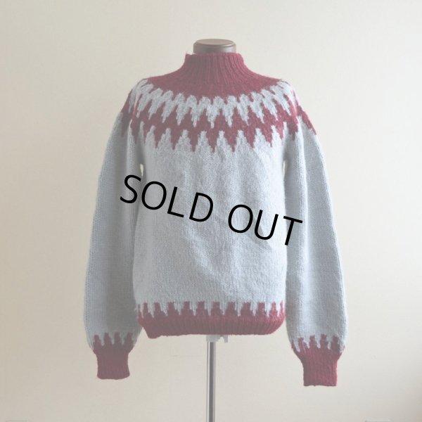 画像1: ノルディックセーター  実寸M