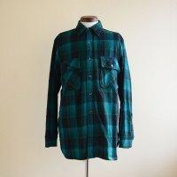 1960s Minnesota Woolen マチ付きウールシャツ  実寸L