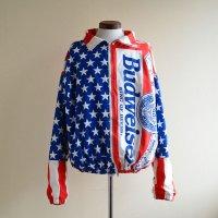 1990s BUDWEISER 総柄コットンジャケット  MADE IN USA  表記L