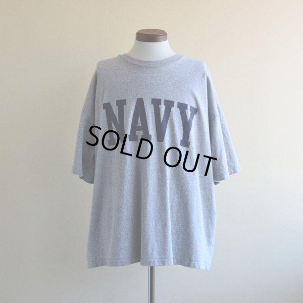 画像1: 1990s The Cotton Exchange US.NAVYロゴ プリントTシャツ  表記XXL