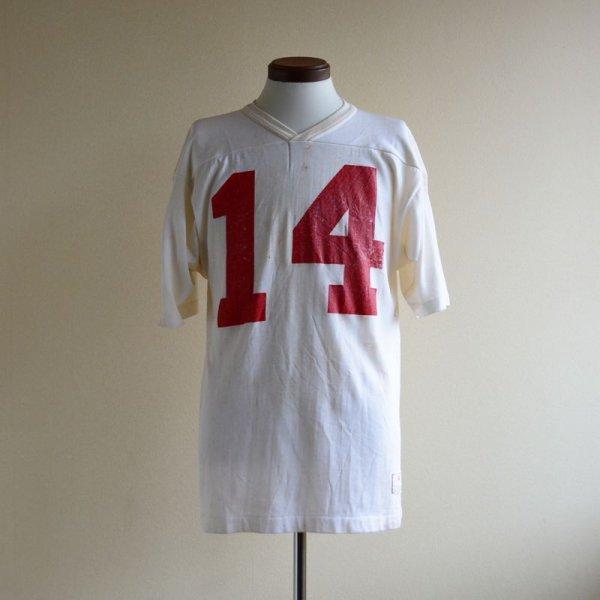 画像1: 1980s Champion ナンバリングフットボールTシャツ  表記M