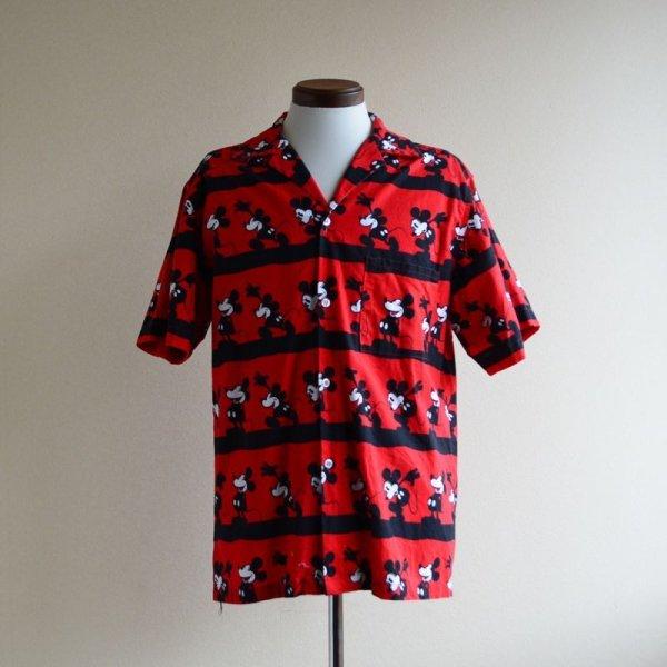 画像1: Mickey Mouse 半袖コットンシャツ  実寸M