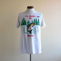 1980s I'd Rather Be Fishing Tシャツ  表記L