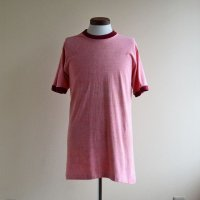 1970s〜 TOWNCRAFT 無地リンガーTシャツ  表記L