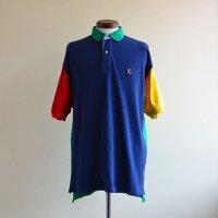 1990s TOMMY HILFIGER 半袖ポロシャツ  クレイジーパターン  表記M