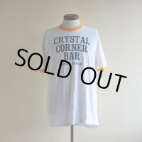 1980s CRYSTAL CORNER BAR リンガーTシャツ  表記XL