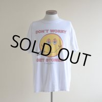1990s〜 DON'T WORRY GET STONED スマイルTシャツ  実寸L