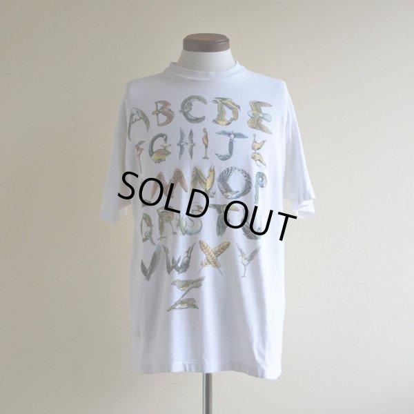 画像1: 1990s BIRD ALPHABET Tシャツ  実寸L